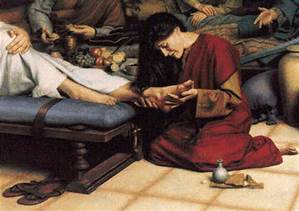 annointing the feet of Jesus