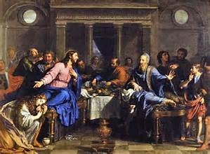 Jesus at the banquet